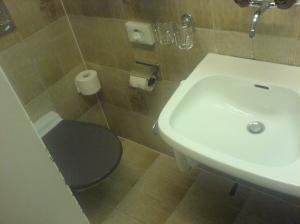 das nette (bade-)zimmer im tessiner hotel